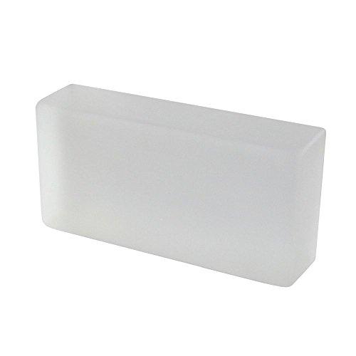 1 Stück Crystal Collection Glasziegel Weiß seidenmatt 20x10x5 cm (Kristall Chanel)