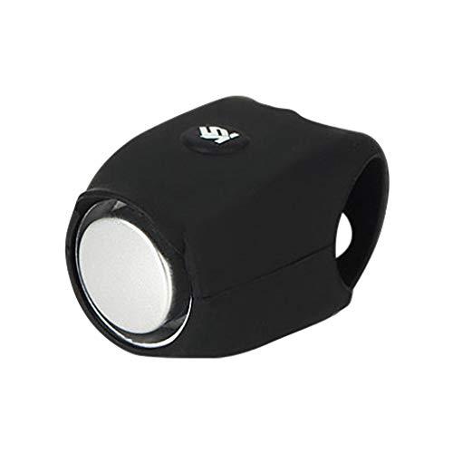 QHJ Fahrrad Silikon elektronisches Horn Zubehör Mountainbike Reitausrüstung (Schwarz)