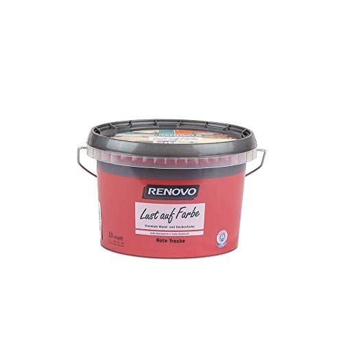 Trendfarbe Rote Traube 1 L Renovo Lust auf Farbe - Wandfarbe Deckenfarbe