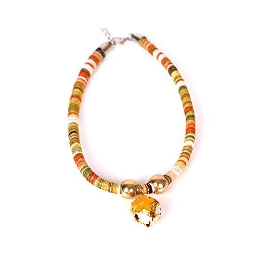 Volkskundenspezifische Katze Halskette Farbe persönlichkeit schöne Dekoration Halskette Glocke zubehör Hund Dekoration Katze Hohl Glocke Wind Kragen (2 Paket) (Color : A, Größe : M) -