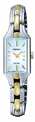 Seiko SUP164P1 de cuarzo para mujer con correa de acero inoxidable, color multicolor