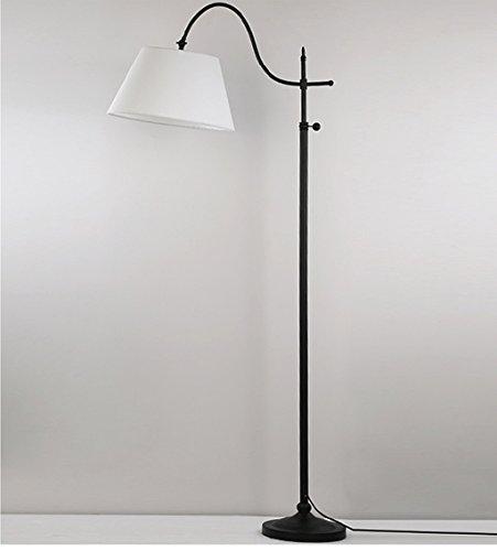 ZHDC Lampe de plancher américaine Creative télécommande lampe verticale Chambre à coucher Continental étude lampe de chevet sans source de lumière lampadaire (Couleur : #1-M)