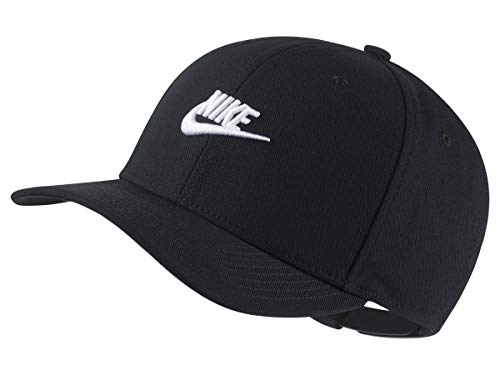 Nike U NSW CLC99 Cap FUT Snapback Hat, Black/White, One Size