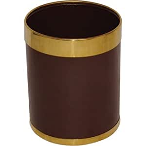 Waste Paper Bins (Attractive leather effect waste paper bins with epoxy powder-coated steel bodies and removable rims to hide binliners)