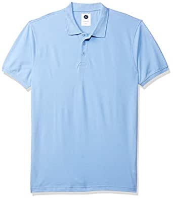 Amazon Brand - Symbol Men's Plain Regular fit Polo (AW17MPCP10_Sky Blue XXXL)