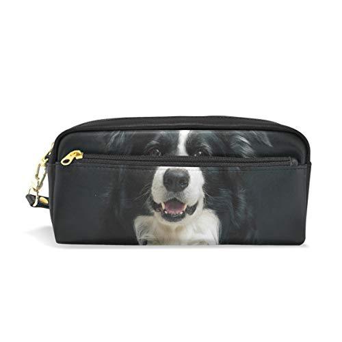 Stifteetui Federmäppchen Etui mit Hund Schreibwaren Tasche Kosmetik Make-up Tasche