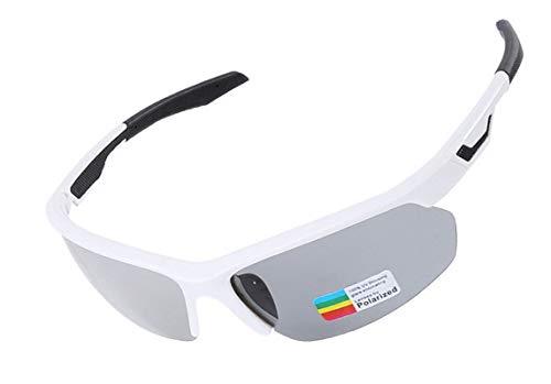 KnBoB Radbrille Jugend Fahrradbrille Gegen Wind Radbrille Selbsttönend Damen Weiß Schwarz