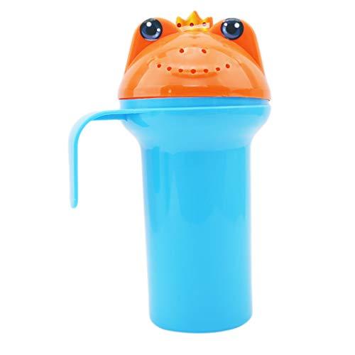 Eleusine Karikatur Baby Dusche Wasser Löffel Baby Baden Flusher Baby Shampoo Tasse Bad Waschen Tassen Waschen Kopf Schwimmende Spielzeug (Blau)