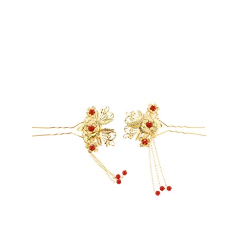 SM SunniMix 2x Retro Haarnadel Haarspange Haarstecker Haar Pins Haarklammer Kostüm Zubehör als Fotografie Requisiten - 14 x 9,5 cm