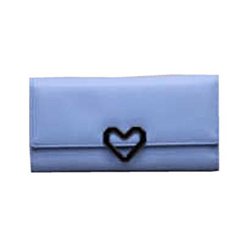 WU Zhi Lady In Pelle La Posizione Multi-card Portafogli Portamonete Blue