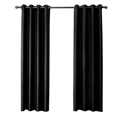 By-gg Vorhänge 2 Stücke Hochwertige Einfarbige Nachahmung Doppel Palace Stoff Wohnzimmer Schlafzimmer Perforierte Vorhang 70% -90% Hohe Schattierung,52X84inch - Datenschutz-boden-bildschirm