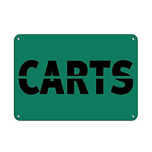 WallAdorn Carts Activity Sign Golf Sign Golf Cart Eisen Poster Malerei Blechschild Vintage Wanddekoration für Cafe Bar Pub Home