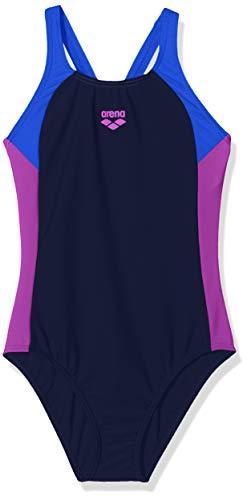 ARENA REN - Bañador Deportivo para niña, Niñas, 000993, Navy-Neon Blue-provenza, 164