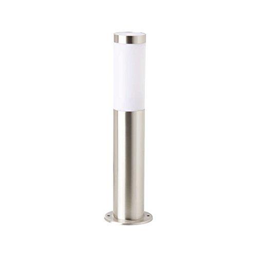 Garza Lighting Outdoor - Aplique TOWER Sobremuro de Pie de Exterior y Jardín, Protección contra el Agua y el Polvo IP44, Casquillo E27, Compatible con LED y CFL, color Plata