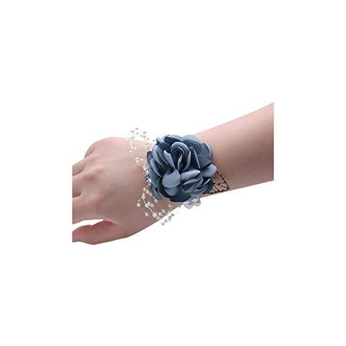 Tiamo Violet Handgelenk Blumen-Perlen-Braut-Tanz-Hand-Dekor-Hochzeitszubehör Cloth Künstlich, Dunkelgrün, - Tanz-dekor