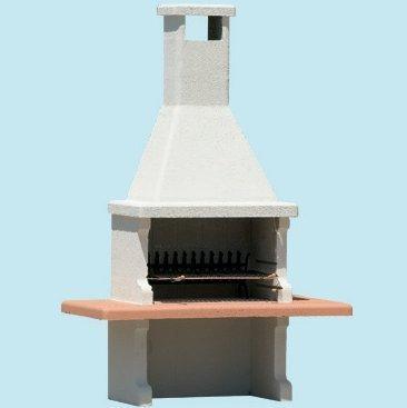 Barbacoa Beton carbone-legna \'bloque\' prefabbricato de hormigón cm.L180x P90X h267