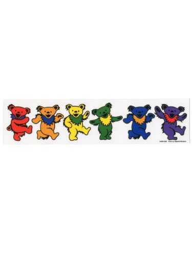 Grateful Dead - Rainbow Dancing Groovy Bears Sticker Decal - 9.5