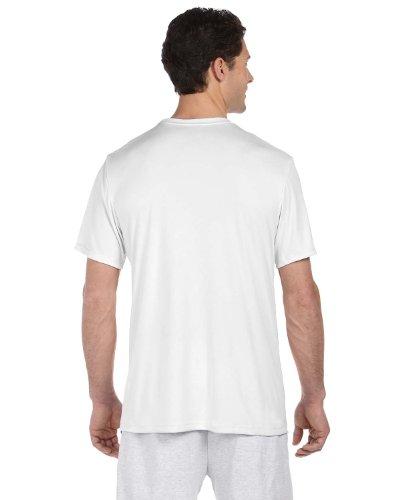 Herren Cool Dri T-Shirt - Wei? - Xl-UMTS4820-6PK (Großen Hanes T-shirts)