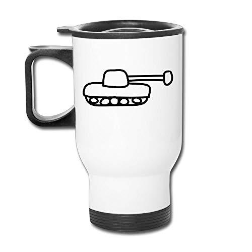 KIMIOE Kaffeetassen Panzer 1c Customize 3D Custom Painting Stainless Steel Vacuum Travel Mug Stainless Steel Simple Sense Coffee Mug,Personalized Gift