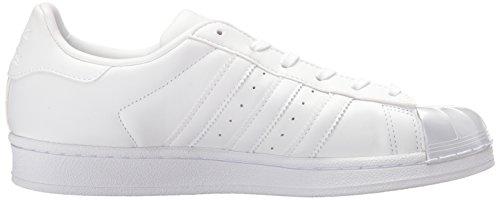 Adidas Superstar Glossy Toe Cuir Baskets Ftwwht-Ftwwht-Cblack