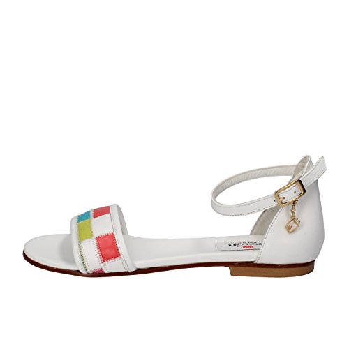 Scarpe donna BRACCIALINI 37 sandali bianco multicolor pelle ap642