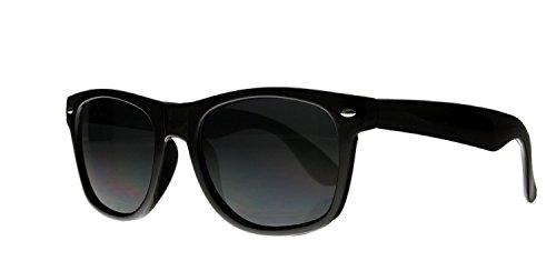 Retro Wayfarer Sonnenbrillen Nerd Brille verschiedenen Farben (Schwarz)