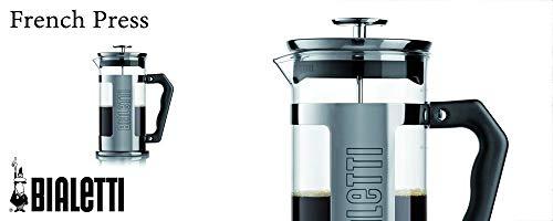Bialetti 0003210/NW Caffettiera con Pressofiltro (Coffe Press), per caffè, tè e infusi, 1,5 Litri, Trasparente/Multicolore