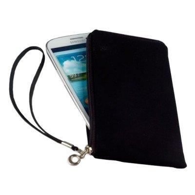 Smart-Planet® hochwertiges SoftCase XL Hülle Neopren Smartphone Universal Tasche für z.B. iPhone 8 Galaxy S7 S8 / Edge A5 A7 , Note Huawei P10 / lite Wiko usw. schwarz (Taschen 5 Reißverschluss Mit)