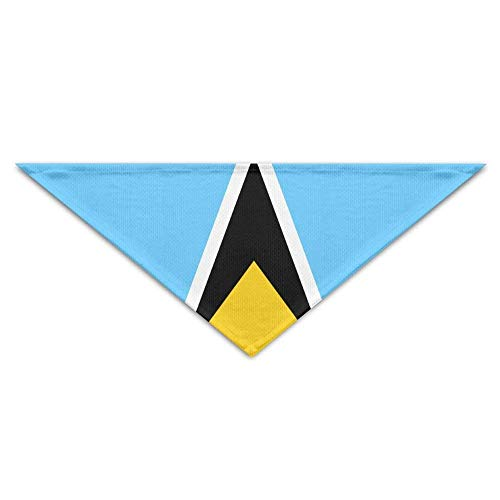 Sdltkhy Flag of Saint Lucia Bandana Triangle Neckerchief Bibs Scarfs Accessories for Dogs & Cats