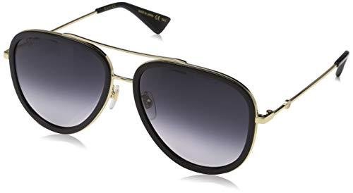Gucci Damen GG0062S 007 Sonnenbrille, Gold (7/Grey), 57