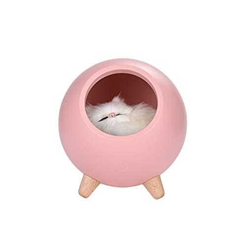 Wyxhkj Luce notturna LED, Cat Pet House Ambience, lampada USB caricamento carino Cartoon Mini LED luce notturna stazione di ricarica Touch atmosfera Light per soggiorno, scrivania, asilo, auto Pk