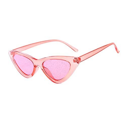 fazry Damen Mode Sonnenschirm Sonnenbrillen Sexy Vintage Brille(Rosa)