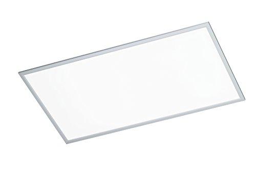 WOFI Deckenleuchte, 1-flammig, Serie Liv, 1 x LED, 50 W, Breite 60 cm, Höhe 5.5 cm, Tiefe 120 cm, Kelvin 6000, Lumen 4000, silber, 9693.01.70.5200 - Mist-panel
