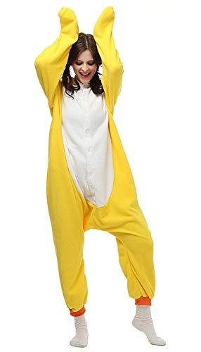 ZBSPORT Kleine gelbe Ente Erwachsene Anime Cosplay Adult Tier Pyjama Schlafanzug - Adult Ente Kostüm
