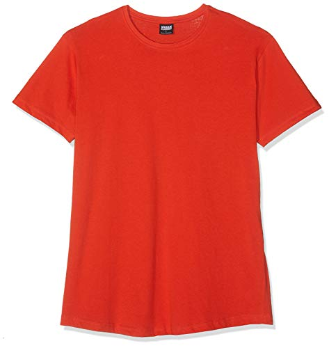 Urban Classics Herren T-Shirt Shaped Long Tee TB638, Orange (bloodorange), M -
