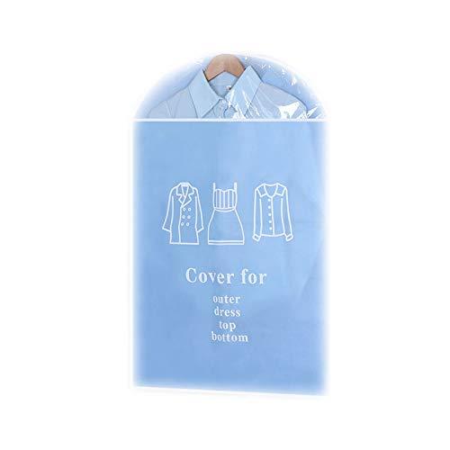 Kleidung Staubschutzhülle, hängende Kleidung Staubbeutel, feuchtigkeitsbeständige Haushaltsfalten (5 Packungen) 2 Farben (Farbe : Blau, größe : 58 * 117cm)