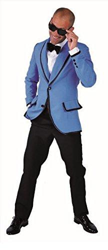 M214249-139-XXL blau Herren Sakko Jacket Discojacket Partyjacket Gr.XXL=62 (Boogie Woogie Mann Kostüm)