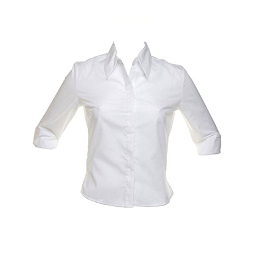 Kustom Kit Womens Continental Blouse 3/4 Sleeved Shirt White