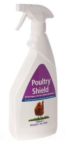 Biolink - Poultry Shield Low Odour Sanitiser (Ready To Use) x Size: 750 Ml Spray 1