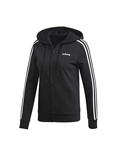 adidas Damen W E 3S FZ HD Sweatshirt, Black/White, L - Amazon Adidas