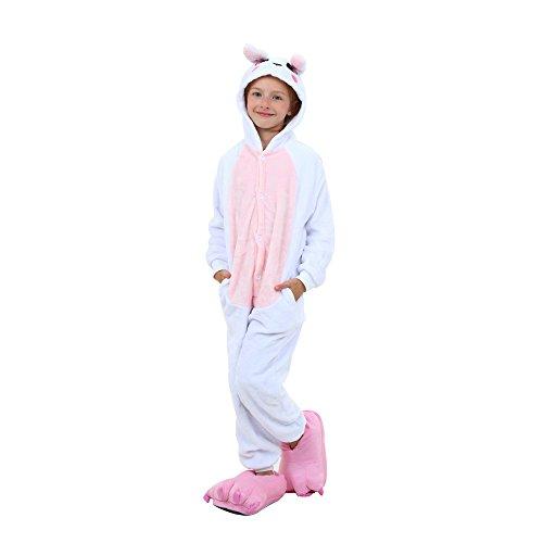 rikatur Overalls Pyjama Nachtwäsche Nacht Kleidung Dress up, Maskerade Partei Kostüme (85CM, Kinder Rosa Kaninchen) (Bunny Pyjamas Kostüm)