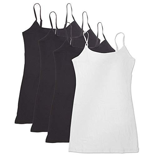 LILICAT Damen 4PC Einstellbare Schulter Workout Yoga Tank ärmellos Shirt Strappy Sport Fitness Tank Tops Camisole Rundhals Weste -
