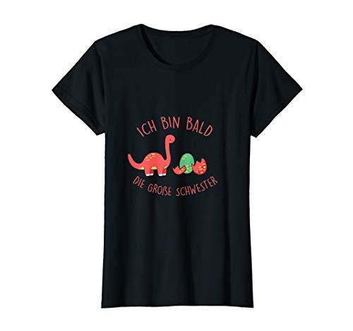 Geschwister Kostüm Große - Ich bin bald die große Schwester Dino T-Shirt Geschenk