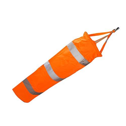 Yardwe Wasserdichte Outdoor-Windsäcke Rip-Stop-Windsockentasche mit Reflektierendem Gürtel für Flughafengarten-Patio-Rasen 0.8m