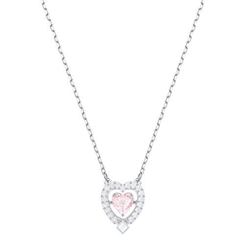 Dance Heart Halskette, Rosa, Rhodiniert ()