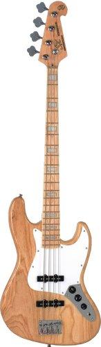 SX SJB75 American pantano Natural madera de fresno con diseño de guitarra