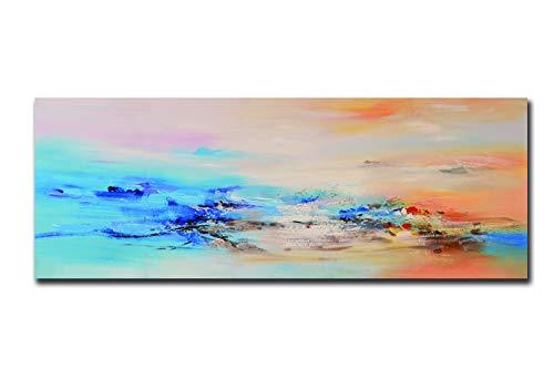 Fajerminart Stampa su Tela - Nuvole Colorate Quadri Astratti Quadri Moderni, Dipinto su Tela Adatto per Quadri Moderni Soggiorno Quadri Camera da Letto Decorazione della Casa 70x210cm (Senza Cornice)
