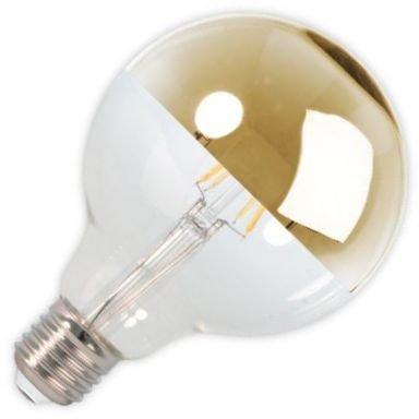 Calex Globelampe Kopfspiegel LED-Filament 4W (ersetzt 40W) grosse Fassung E27 gold 95mm (Gold Lampe Globe)