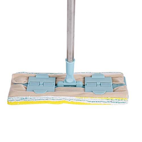 Hlluya Handtuchhalter Haushaltsgeräte, Holzboden, Mops und freie Hand flach Mops, Edelstahl Rostfrei Flach abgeschleppt, blau, mit Einem Handtuch