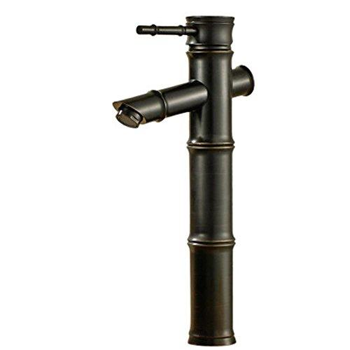 Preisvergleich Produktbild LIP Bronze Und Bambus Erhöhung Gegenbecken Voll Von Antiken Kupfer Wasserhahn Heißen Und Kalten Wasserhahn Toilette Wasserhahn Retro